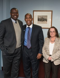 (L-R) Board Chair Pamerson Ifill, David Offutt, and Trustee Bonnie Blackler