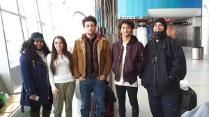 (L-R) GtC students Romilla Cardoso, Meagan DeRocha, Jahath Harriott,  Joseph Alamo, and Matthew Janes