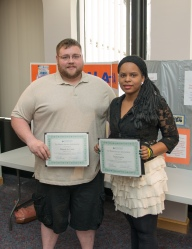 Patrick St. Croix of East Bridgewater & Tricia Garcia of Stoughton, Canton Honors Students.