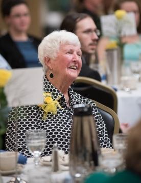 Former Dean of Students and past PTK advisor Marguerite Donovan.